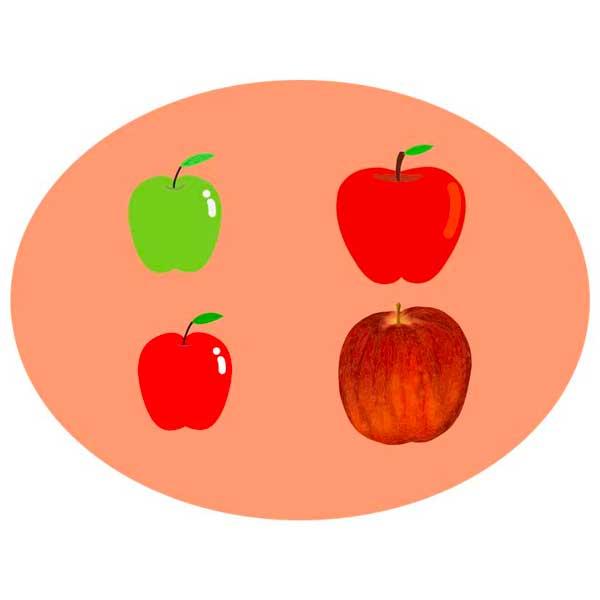 りんごのベクターイラストセット