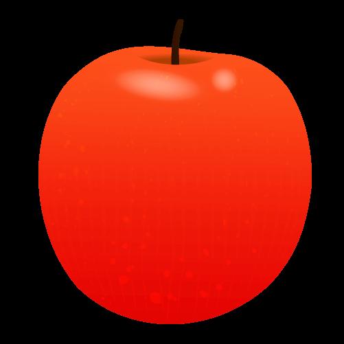 かわいいりんごのイラスト