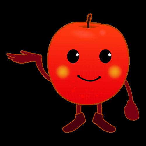案内するりんご2のイラスト