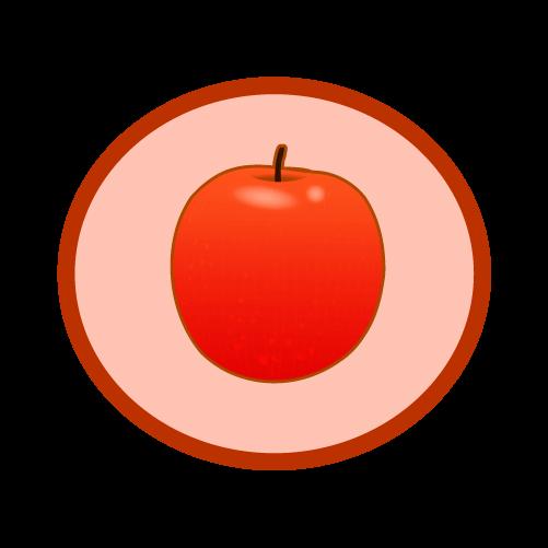 りんごマークのイラスト