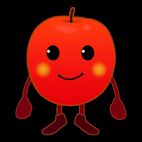 可愛いりんごのイラスト
