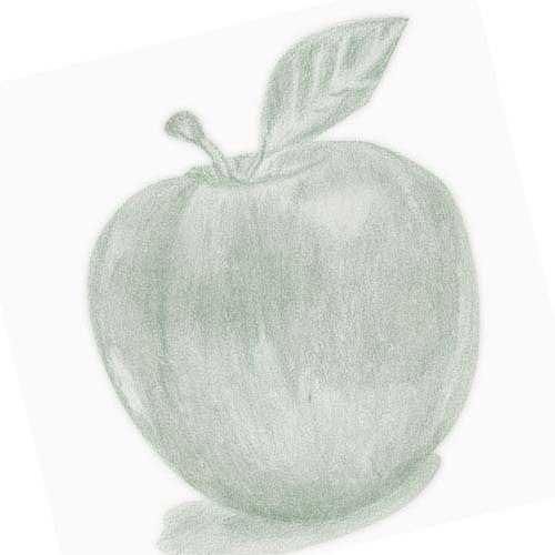 りんごの鉛筆デッサン