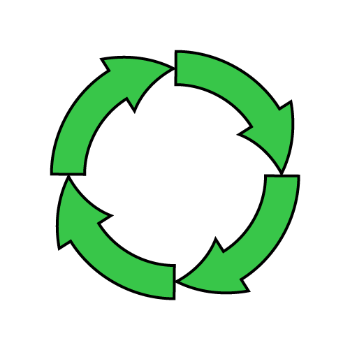 リサイクル矢印のイラスト