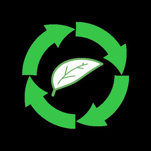 葉っぱリサイクルのイラスト