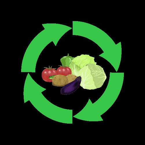 野菜リサイクルのイラスト