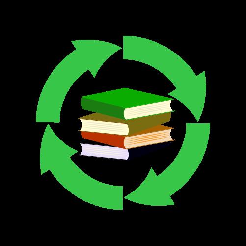 本・書籍リサイクルのイラスト