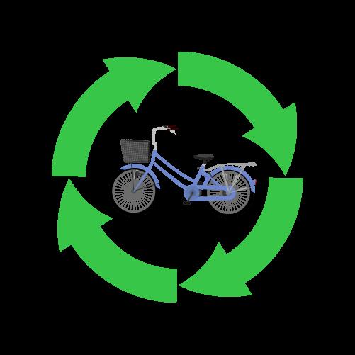自転車リサイクルのイラスト