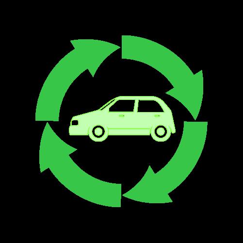 自動車リサイクルのイラスト