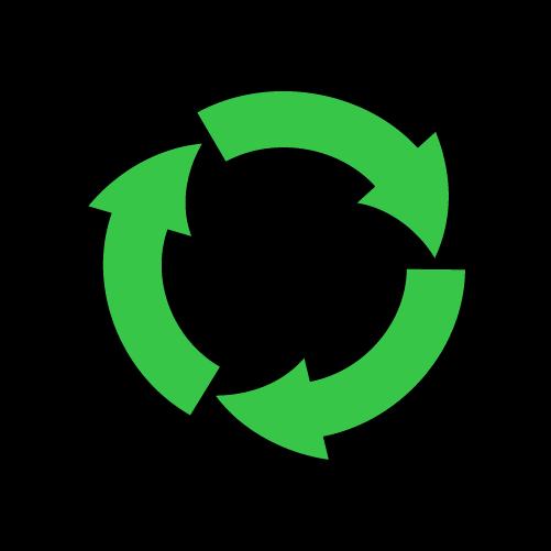 リサイクル矢印のイラスト2