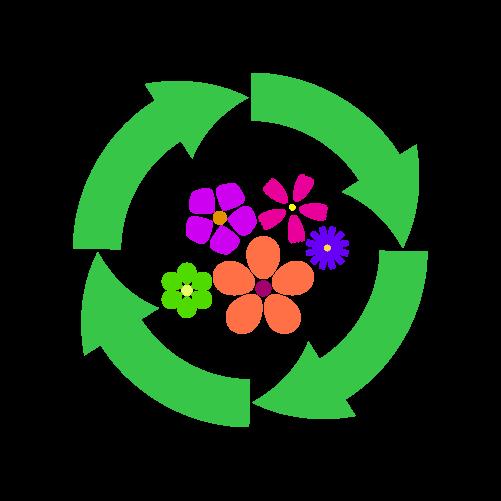 花リサイクルのイラスト