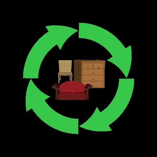 家具リサイクルのイラスト