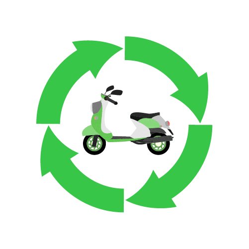 バイクリサイクルのイラスト