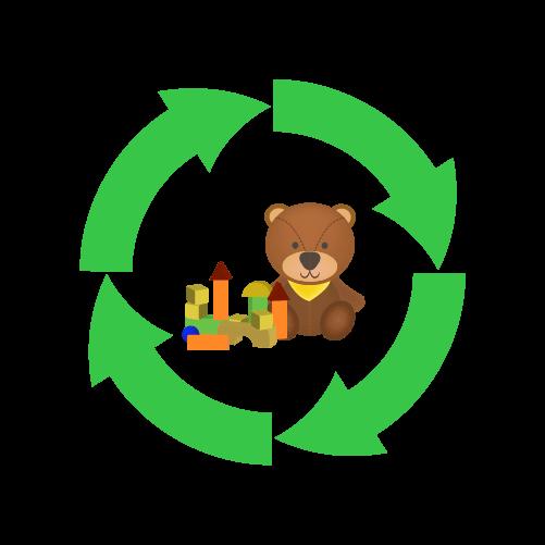 おもちゃリサイクルのイラスト