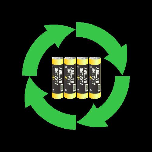電池リサイクルのイラスト