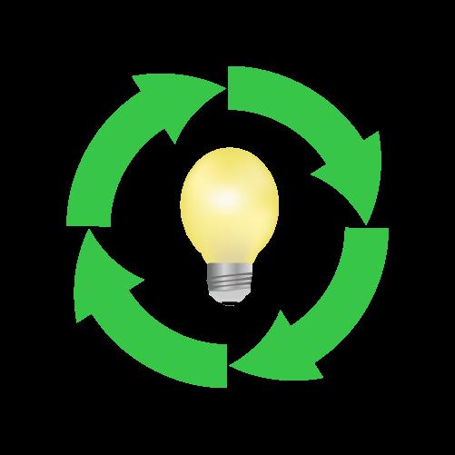 電球リサイクルのイラスト