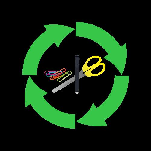 文房具リサイクルのイラスト