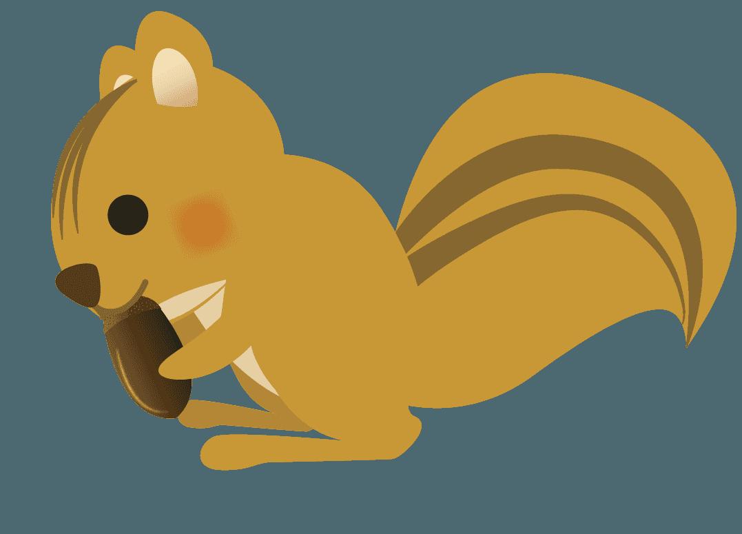 木の実を食べるりすイラスト