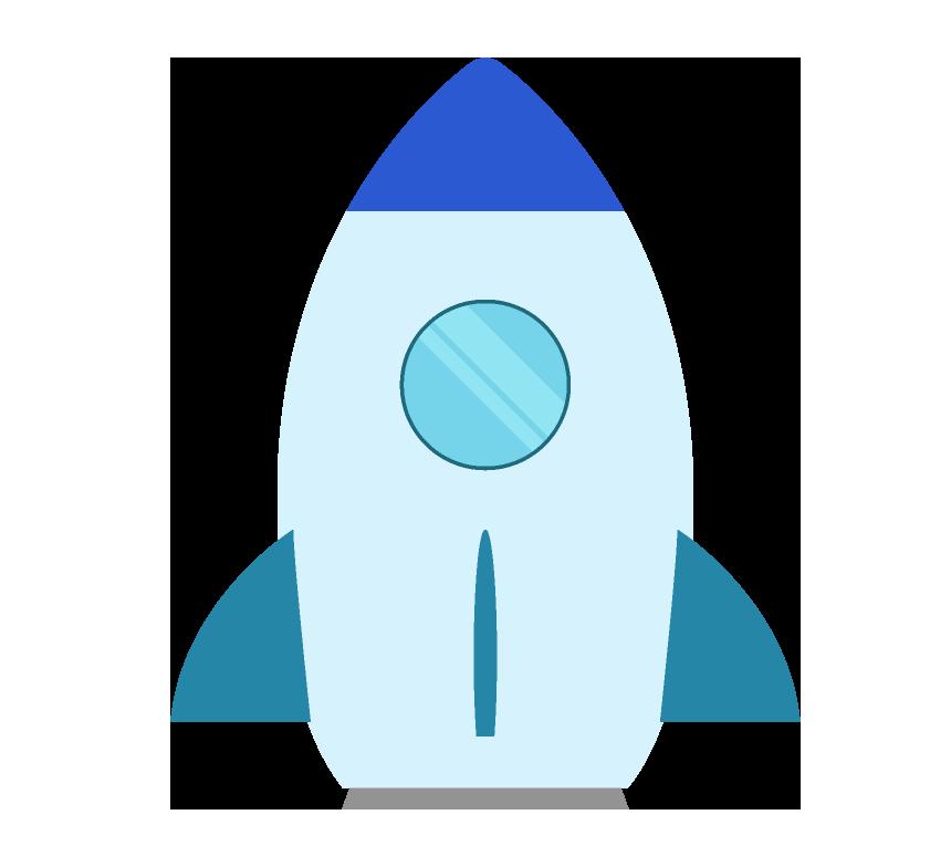 可愛いロケットのイラスト