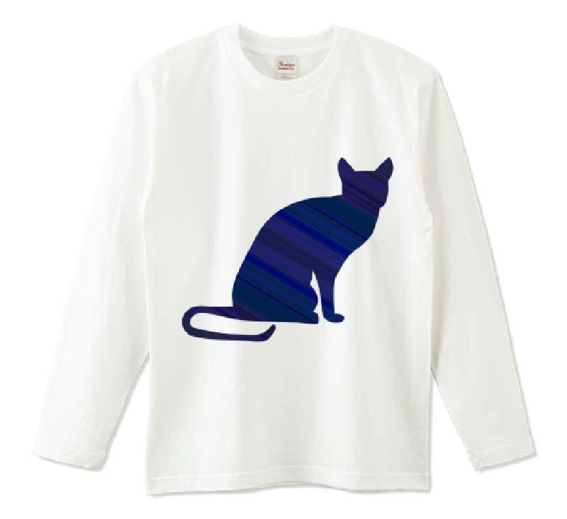 ロシアンブルー長袖Tシャツ