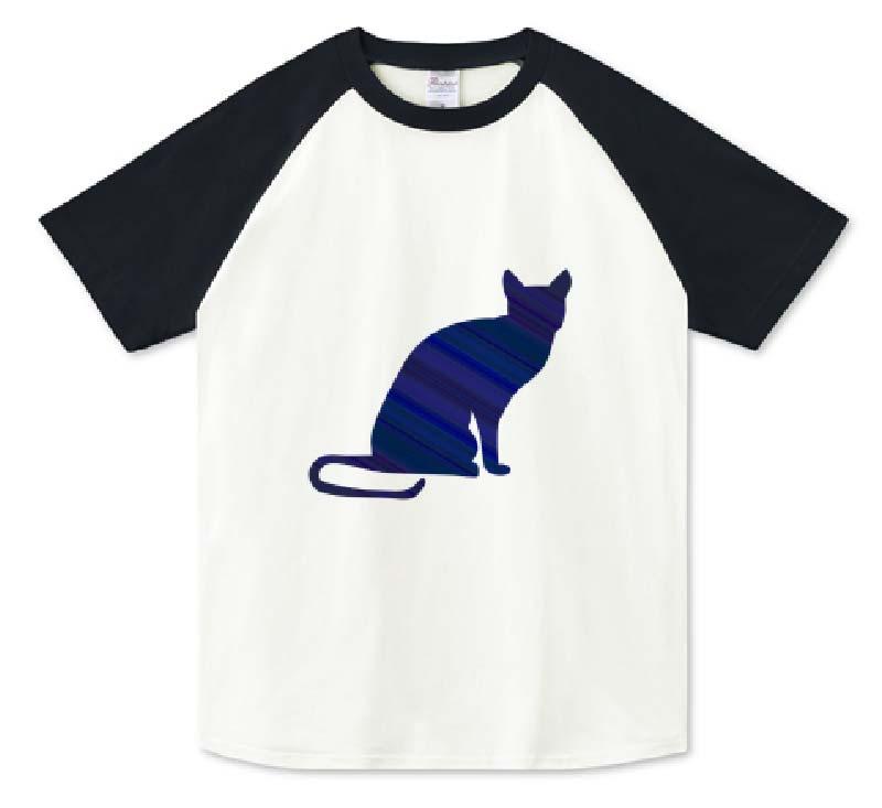 ロシアンブルーラグランTシャツ