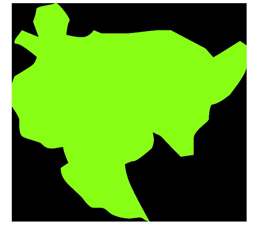 佐賀の地図(大陸の形)のイラスト