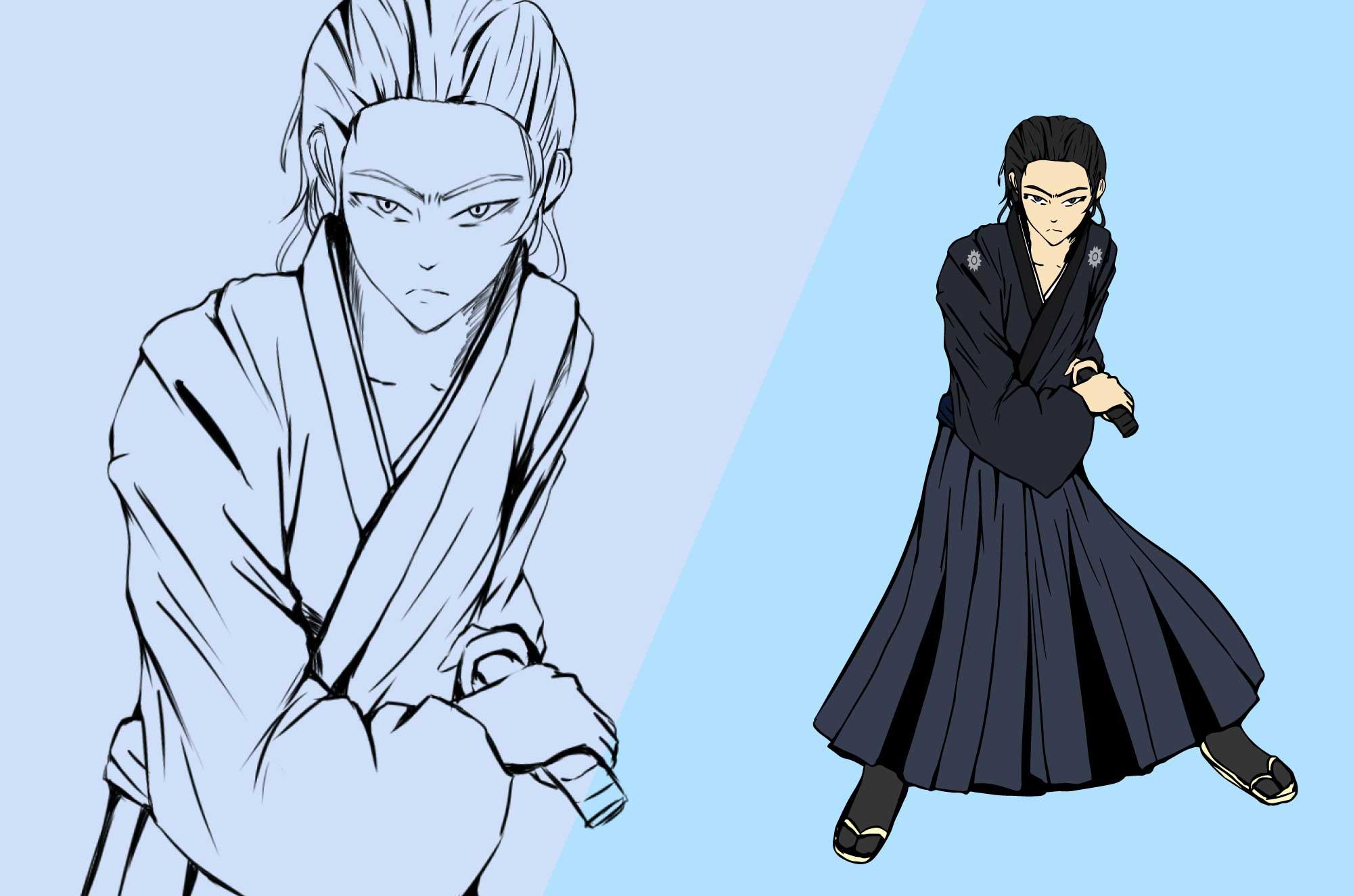坂本龍馬のフリーイラスト - 歴史の人物キャラクター
