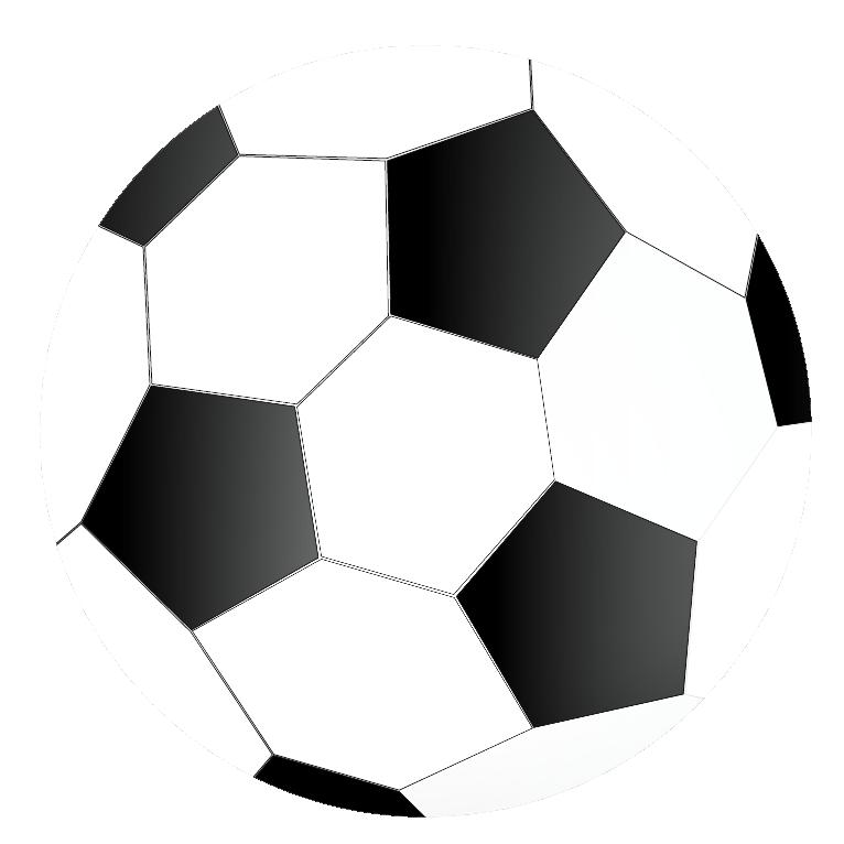 かっこいいサッカーボールのイラスト