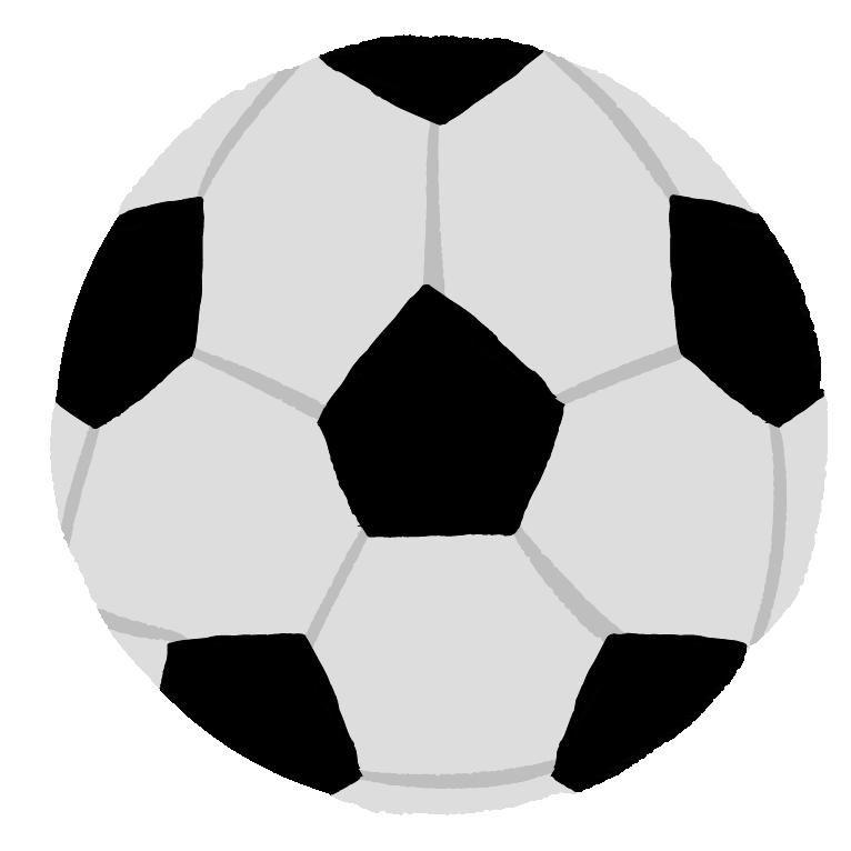 可愛いサッカーボールのイラスト