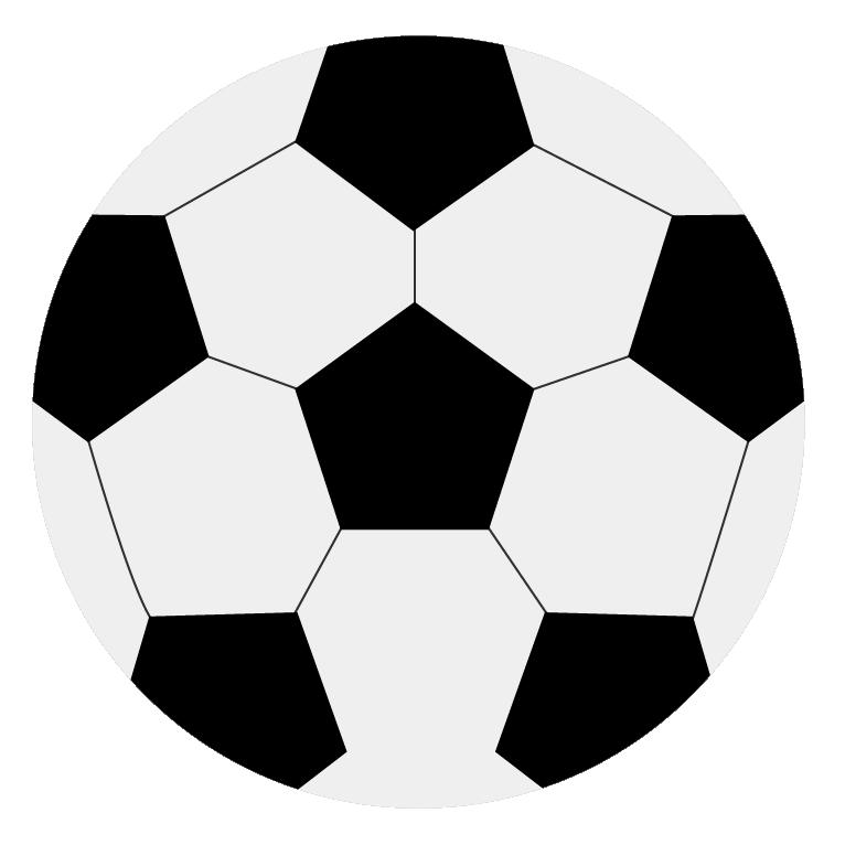 普通のサッカーボルのイラスト