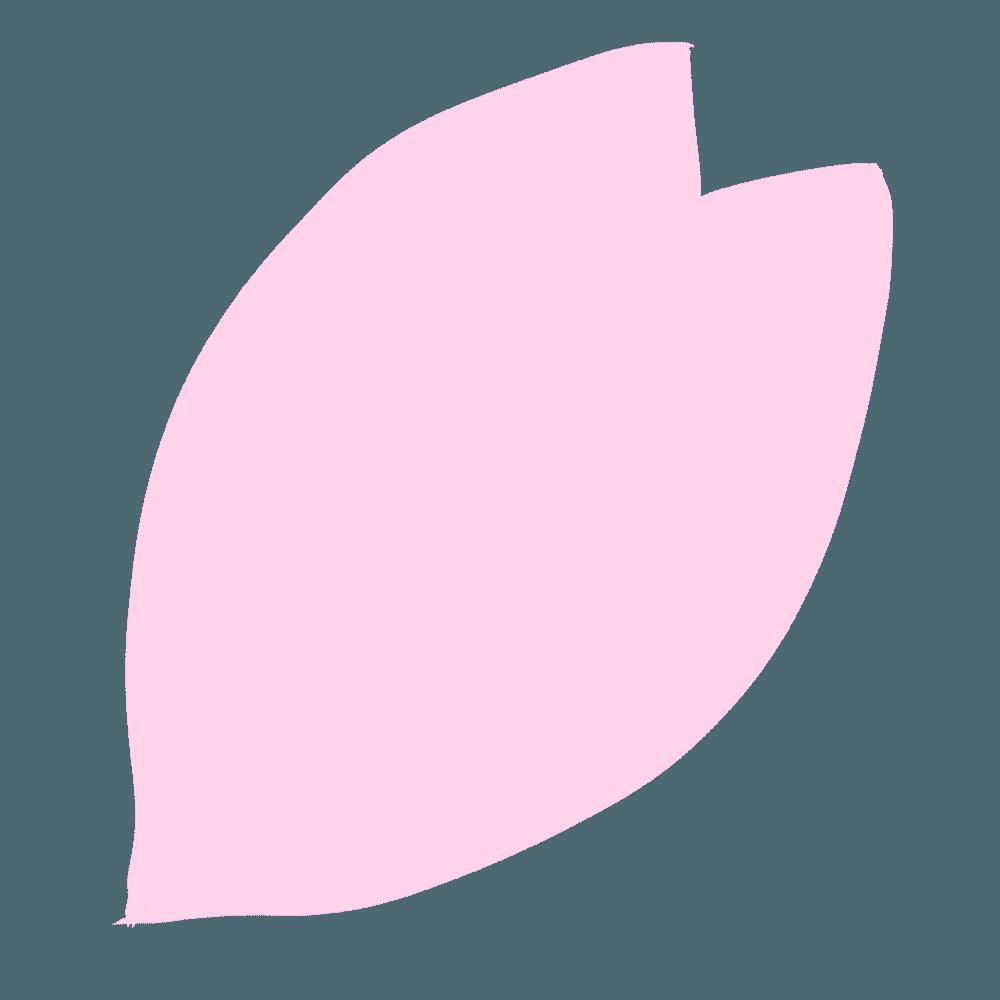 桜の花びら1枚細め