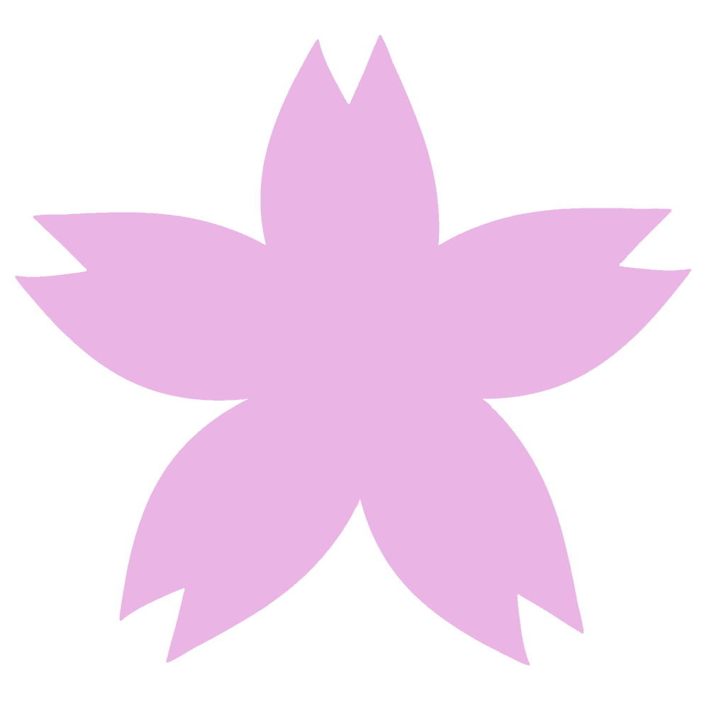 桜の花ベクターイラスト花びら細め