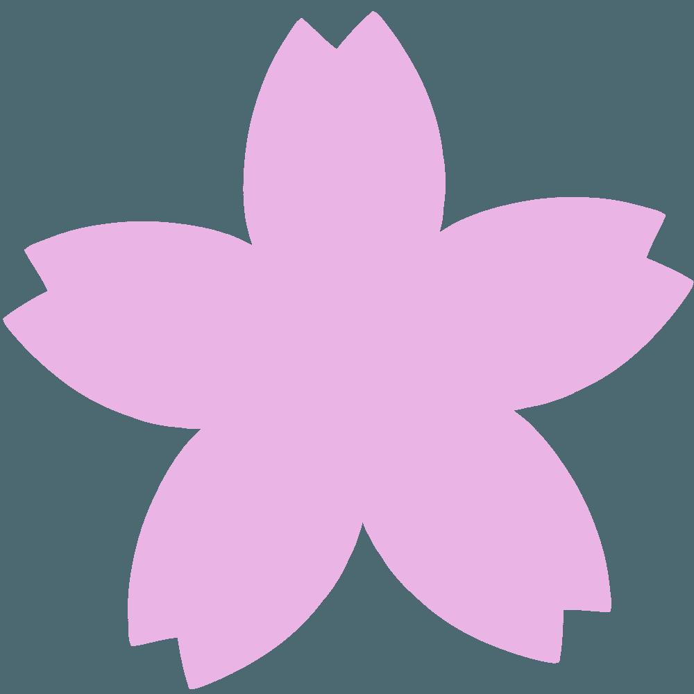 桜の花びらちょっと太めのイラスト
