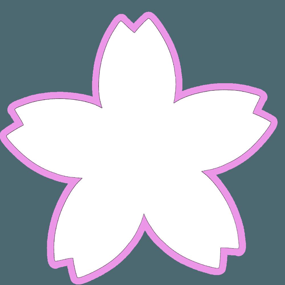 白抜き桜の花のイラスト