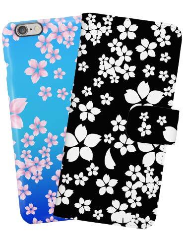 桜柄の可愛いスマホケース!手帳型やiphone用も
