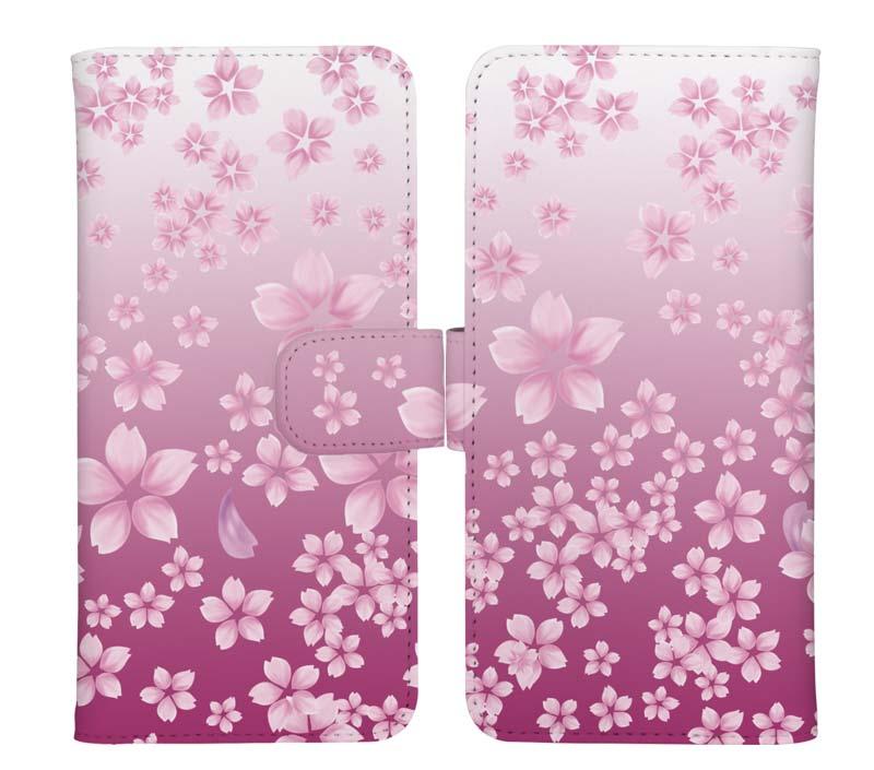 可愛いピンクの桜柄スマホケース