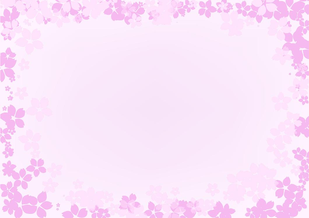 桜の四角フレーム(背景あり1060×748)