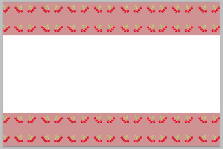 さくらんぼの無料イラストで作った可愛いライン素材