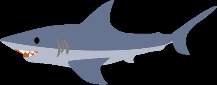 可愛いサメのイラスト