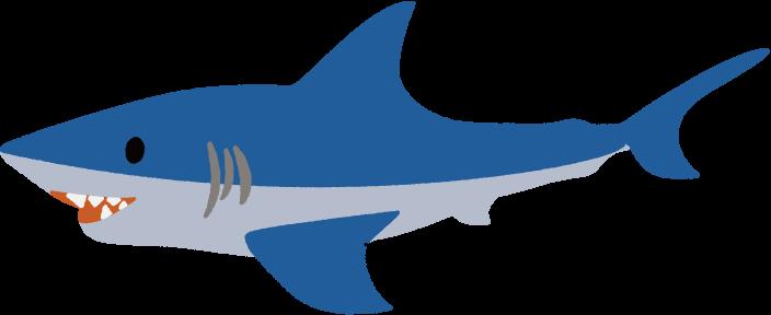 青いサメのイラスト