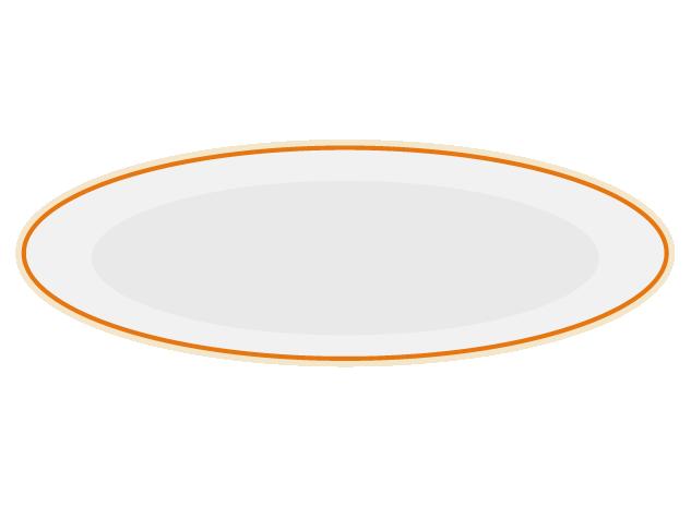 薄いお皿のイラスト