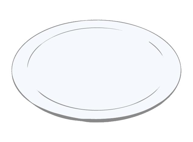 洋風の薄いお皿のイラスト
