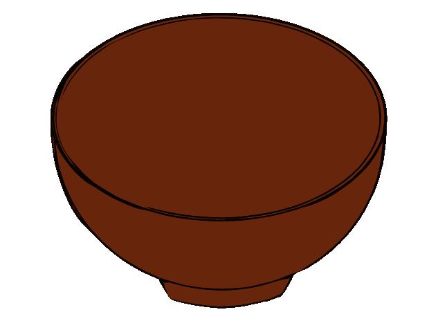 味噌汁のお椀のイラスト