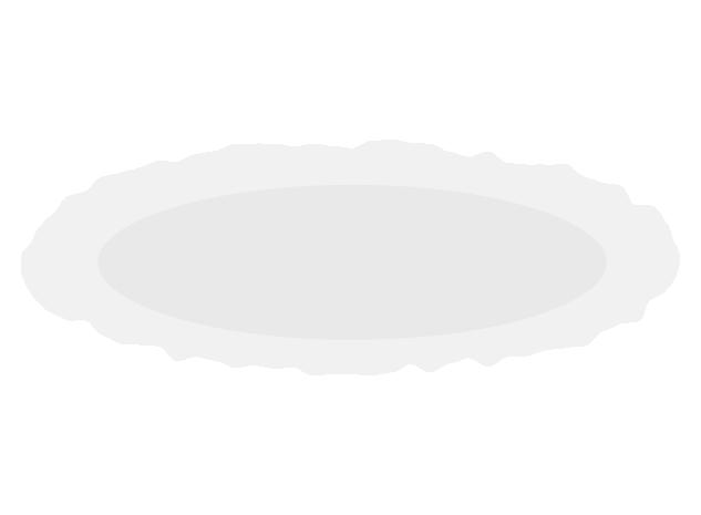 おしゃれな薄いお皿のイラスト