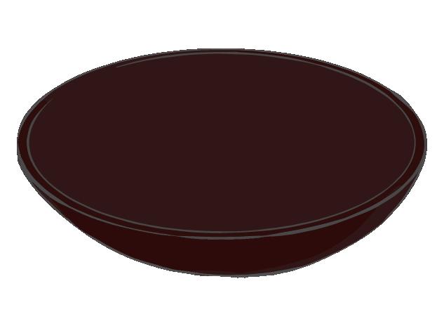 茶色い和の器のイラスト