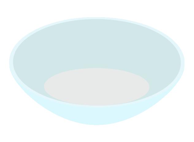 ガラスの器のイラスト