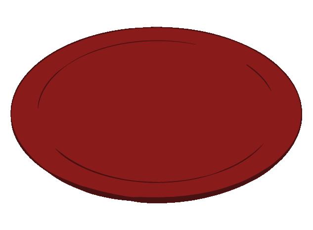 和の薄いお皿のイラスト