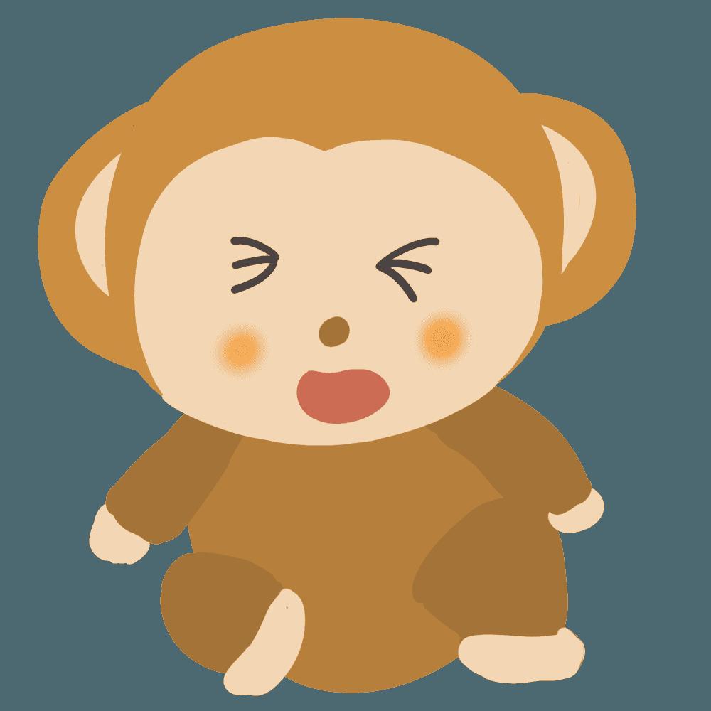 泣いている猿イラスト