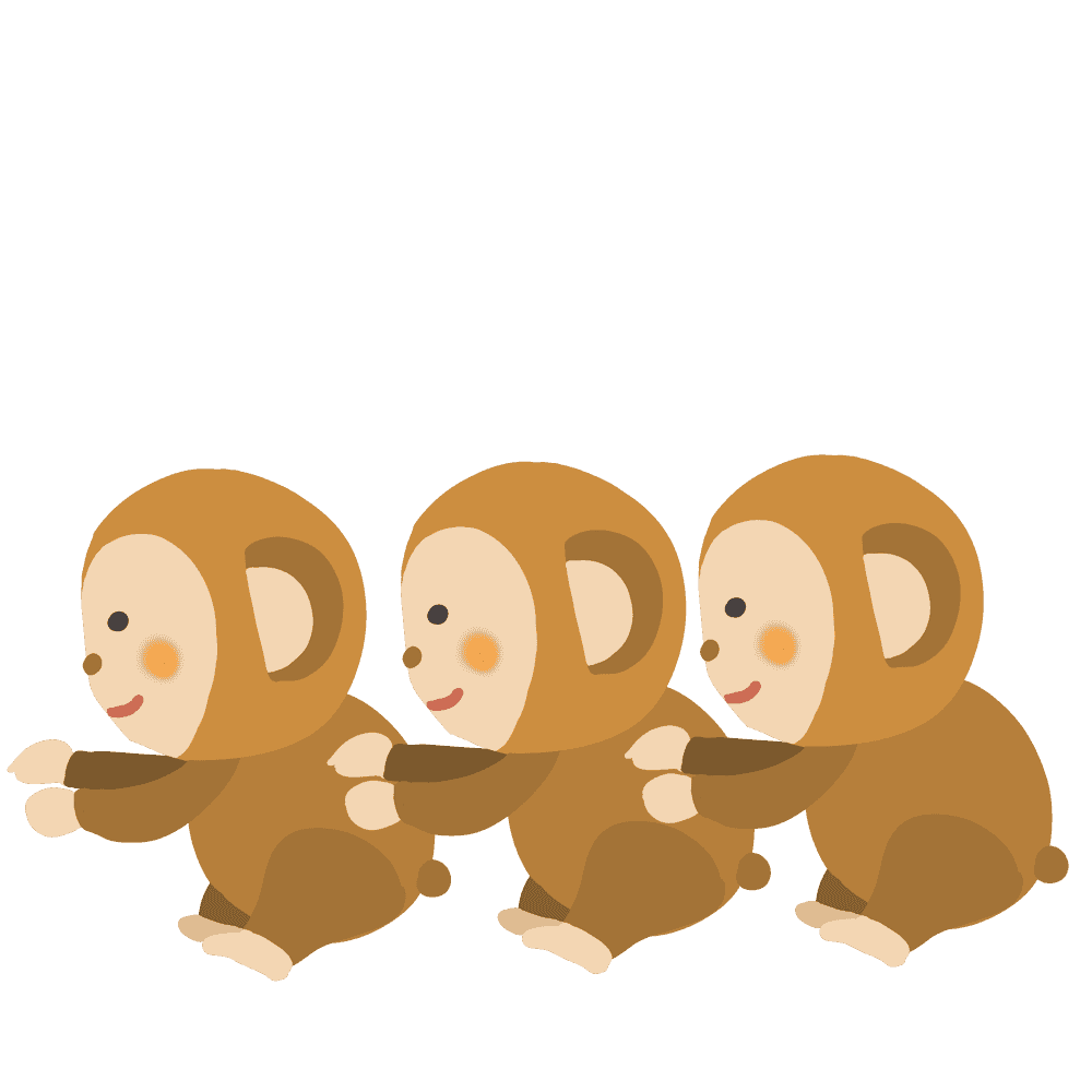 3匹の猿イラスト