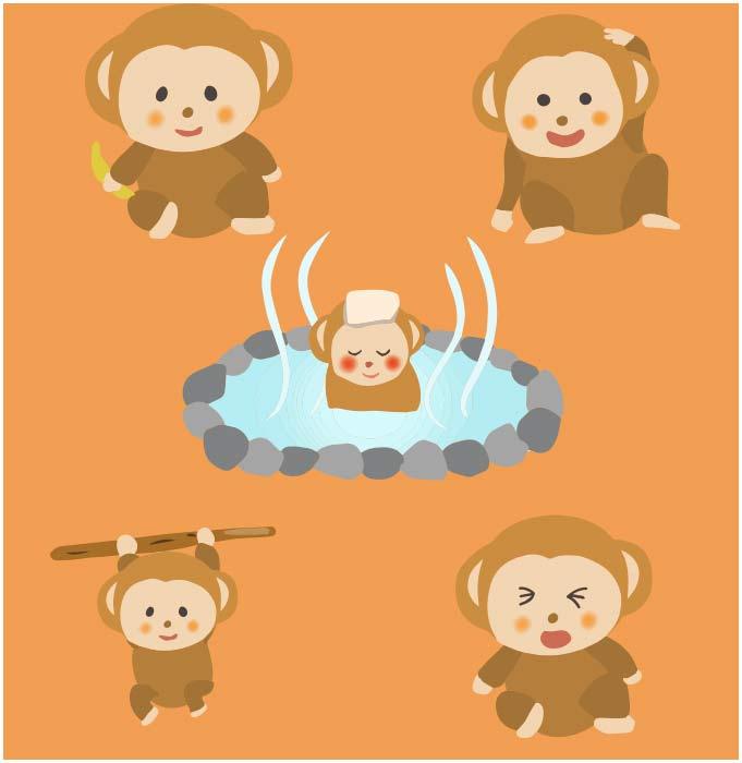 猿のベクター素材