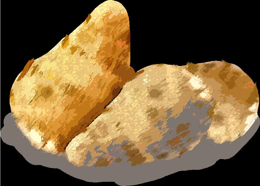 パステル画風の里芋のイラスト